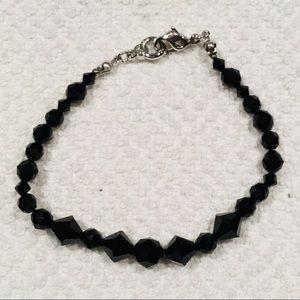 Swarovski Black Crystal Bead Bracelet